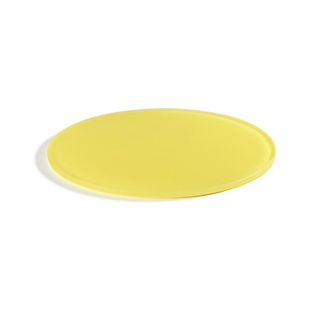 "Mealplak lemon round tray ø11.75"" Nacryl"