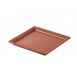 Eclipse pepper red small square plate