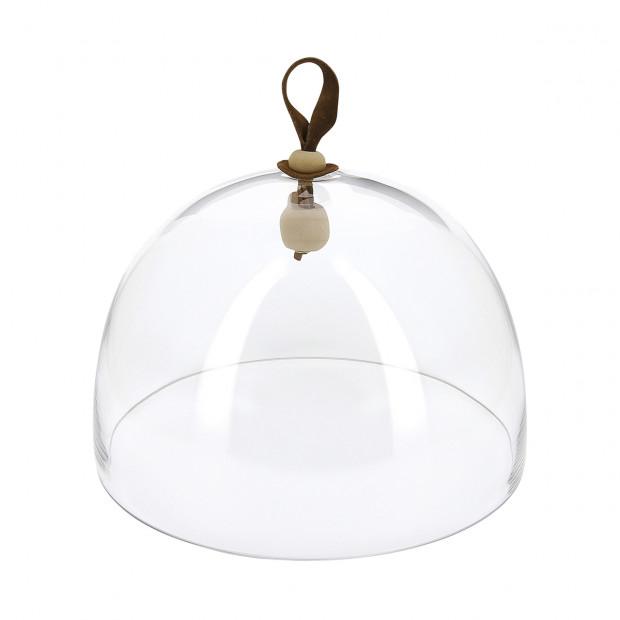Basalt matt slate style round plate and glass dome