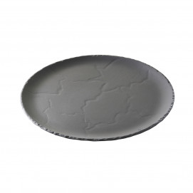 set of 4 basalt 10.5inch round plate