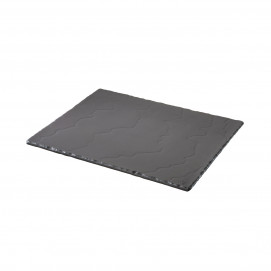 Basalt matt slate style large serving rectangular tray