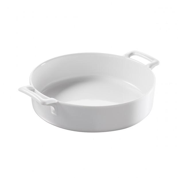 Belle Cuisine white round porcelain baking dish
