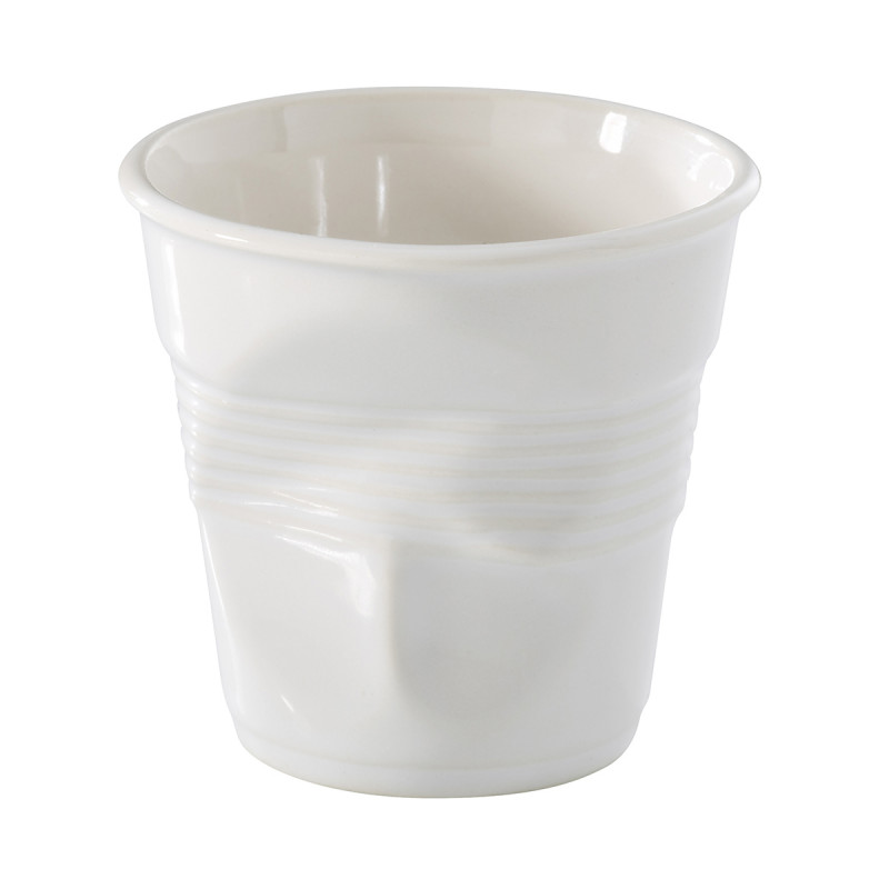 white porcelaine coffee cups crumpled by revol