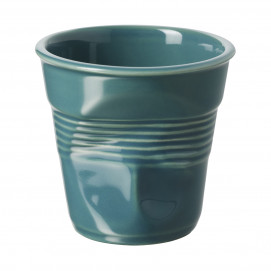Crumpled coffee cup laguna green