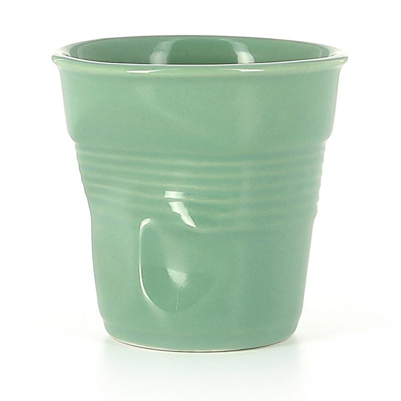 New Crumpled Espresso Cups Sage Revol