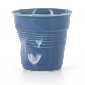 Crumpled coffee cup ultramarine 2 sizes