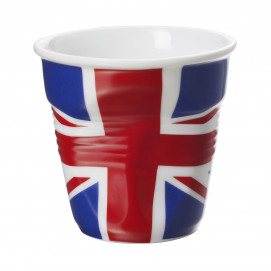 Crumpled espresso cup UK flag