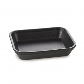 black cast iron style rectangular roasting dishes