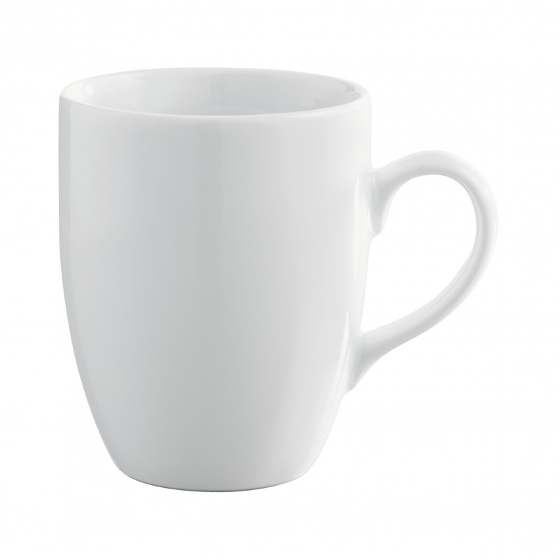 French Clics White Mug With Handle And Round Edges
