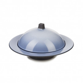 Equinoxe deep plate with cloche 4 colors