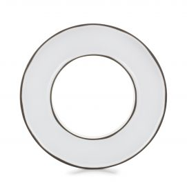 ring center piece for mise en bouche caractere, white cumulus