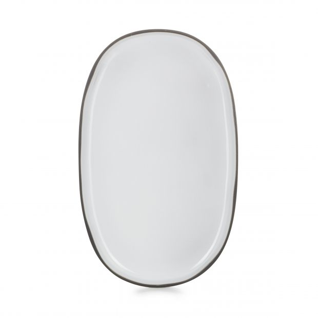 large oval service plate caractere, 7 colors