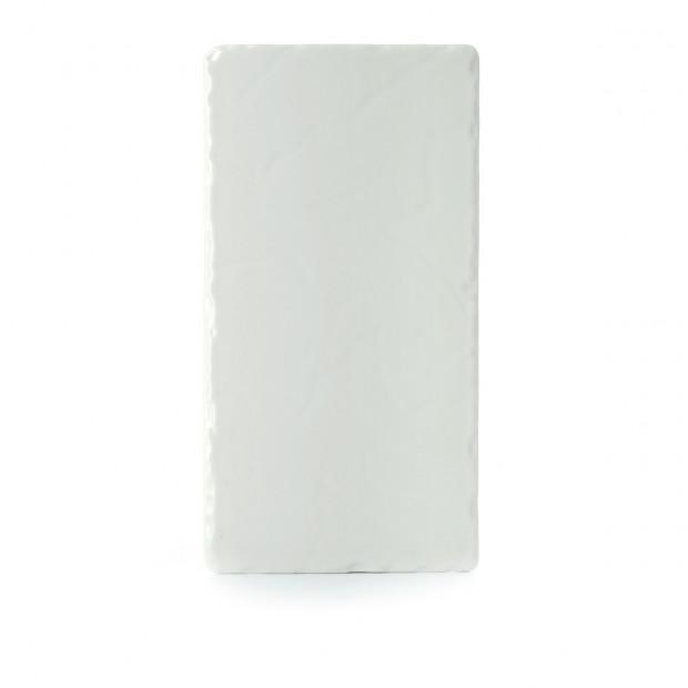 Basalt pearly white rectangular appetizer plate 3 sizes
