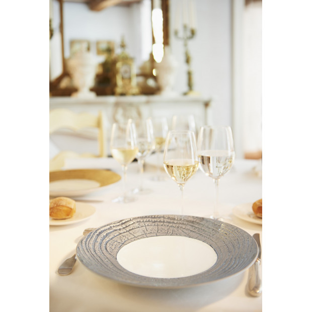 Arborescence luxurious gold and silver large dinner plate / charger