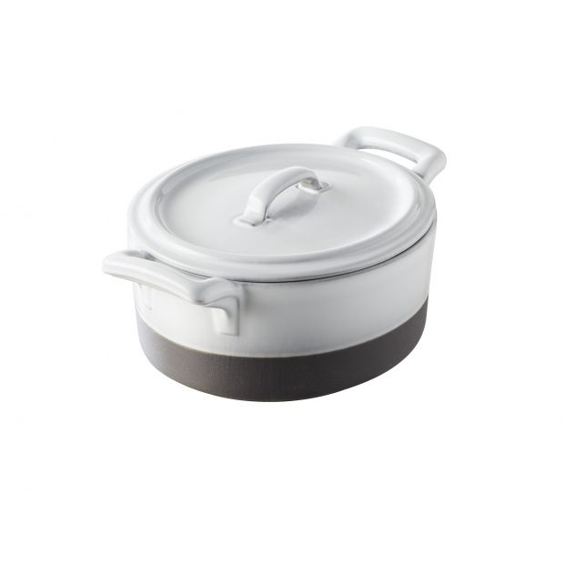 oval white and black cocotte eclipse