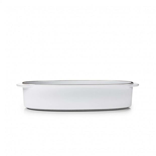 """Rectangular Oblong Dish 10.25"""" x 7.25"""" Caractère, 4 colors"""