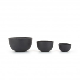Basalt matt slate style small bowls 3 sizes