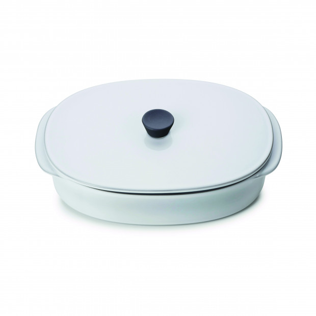 CARACTERE RECT DISH WITH LID 26X18,