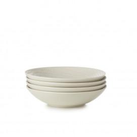 "Set of 4 Arborescence pasta coupe bowls ø9.5"""