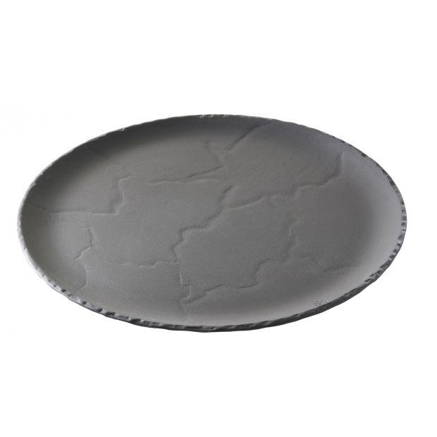 set of 4 basalt 8.75inch round plate