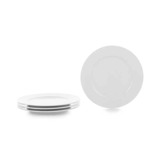Set of 4 French Classics white dessert plates 7,75 inches