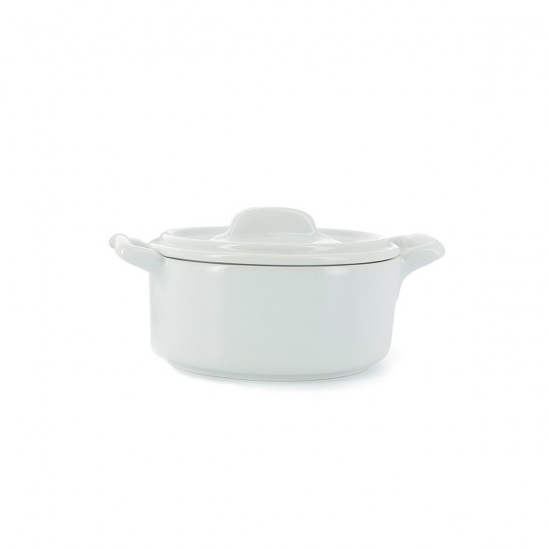 Belle Cuisine white individual round bakeware casserole