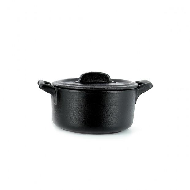 Belle Cuisine black cast iron style individual round bakeware casserole