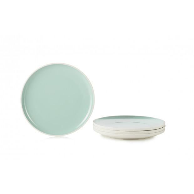 """Set of 4 Color Lab dessert plates ø7.75"""" 4 colors"""