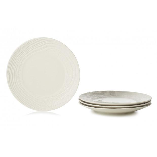 "Set of 4 Arborescence dinner plates ø10.5"" 3 colors"