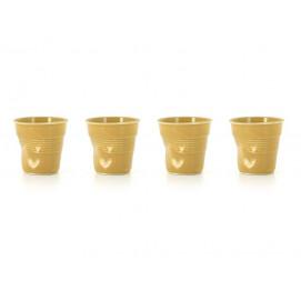 Set of 4 crumple cups saffron
