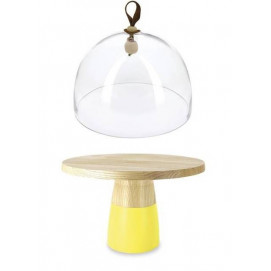 Color Lab high cake stand and glass dome