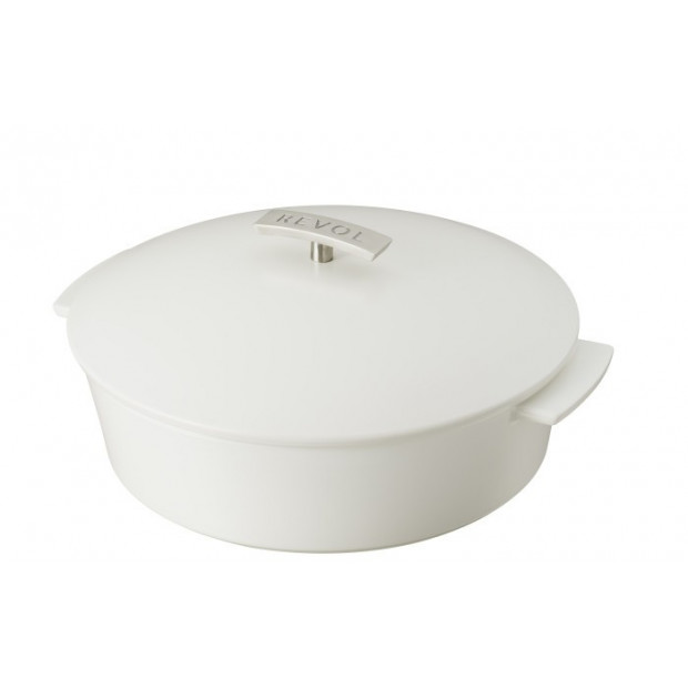 Revolution shallow round dutch oven 3.8QT satin white ø11""