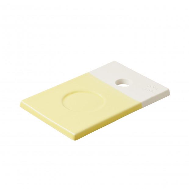 petite planche color e en porcelaine jaune citrus. Black Bedroom Furniture Sets. Home Design Ideas