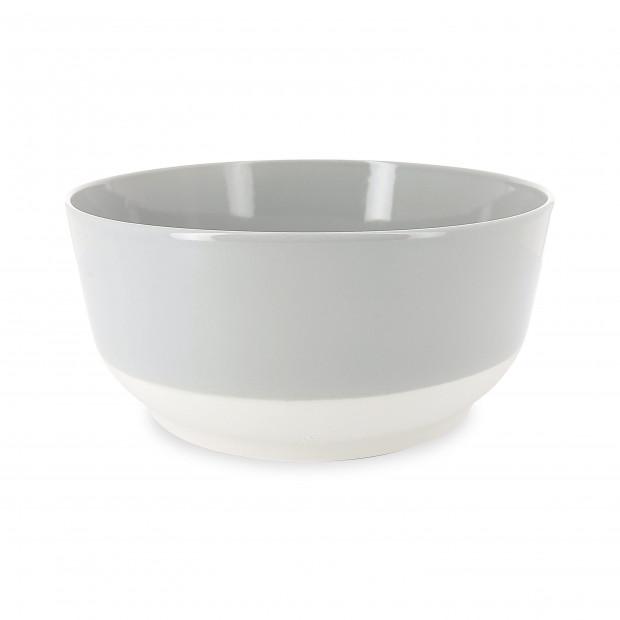 Saladier coloré en porcelaine - Gris Stratus