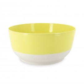 Saladier coloré en porcelaine - Jaune Citrus