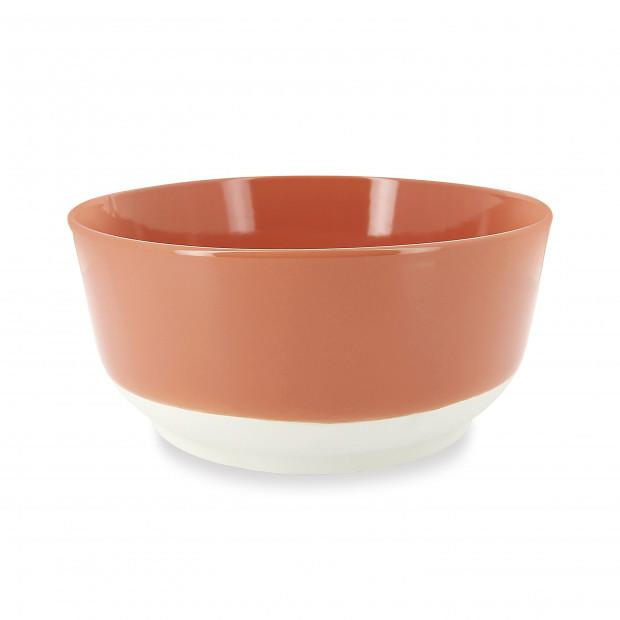 Saladier coloré en porcelaine - Orange Capucine
