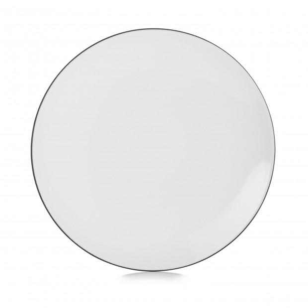Assiette plate en céramique - Blanc Cumulus