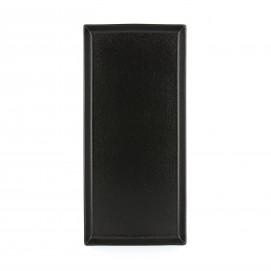 Assiette rectangulaire en céramique - Noir effet fonte