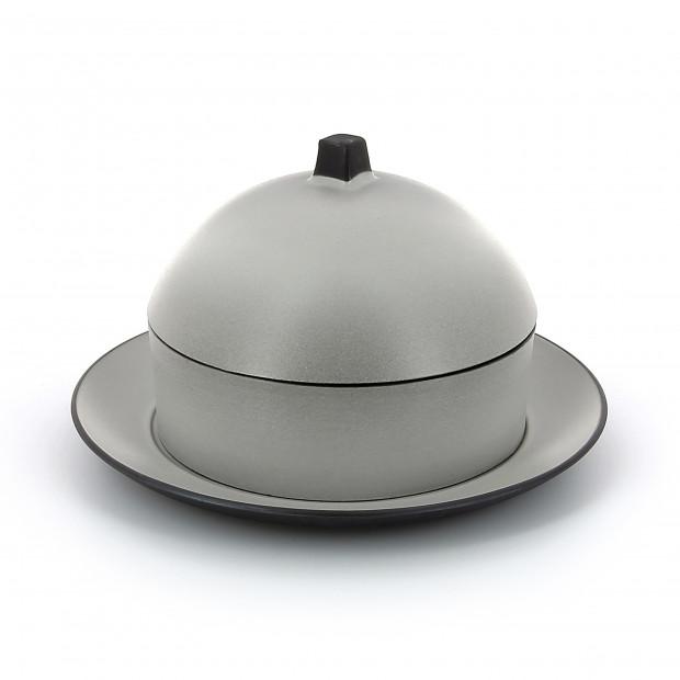 Set Dim Sum panier, cloche, assiette en céramique - Poivre