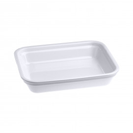 Plat rectangulaire en porcelaine - Blanc