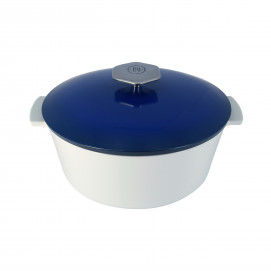 Cocotte ronde en céramique induction - Bleu Touareg