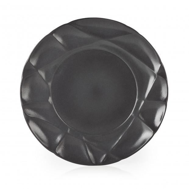 Assiette plate en porcelaine - Noir