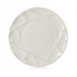 Assiette plate en porcelaine - Blanc
