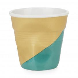Tasse espresso décorée en porcelaine