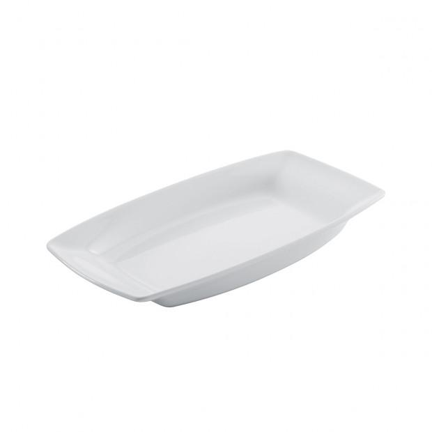 plat buffet en porcelaine blanche - alexandrie