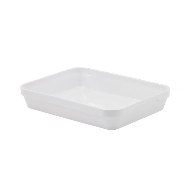 plat rectangulaire londres en porcelaine blanche - les essentiels
