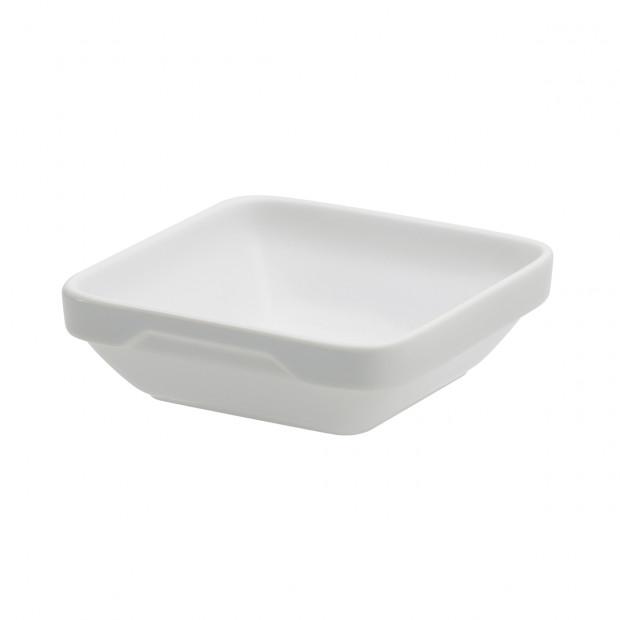 ravier carré londres en porcelaine blanche - les essentiels