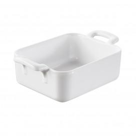 ravier rectangulaire en porcelaine blanche - belle cuisine