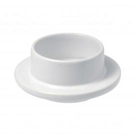 beurrier en porcelaine blanche - les essentiels