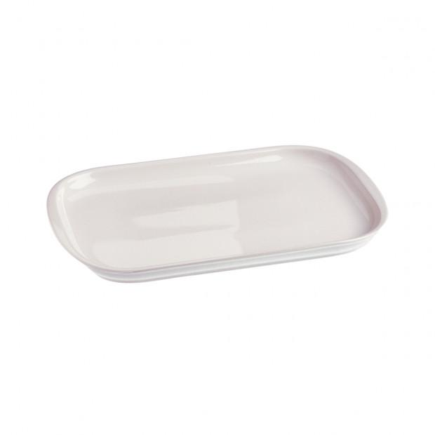 plat à entrecôte en porcelaine blanche - les essentiels